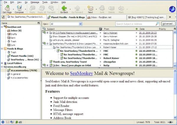 Скриншот SeaMonkey