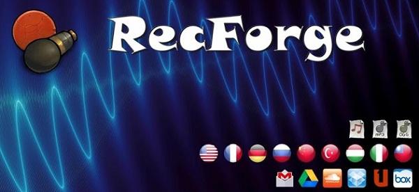 recforge диктофон для android