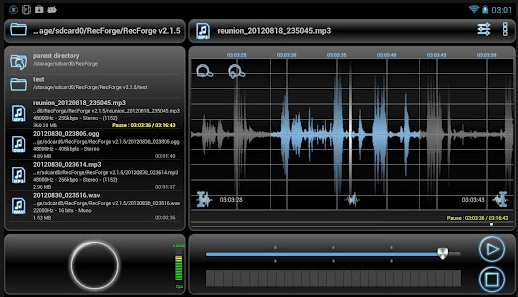RecForge диктофон для Андроид