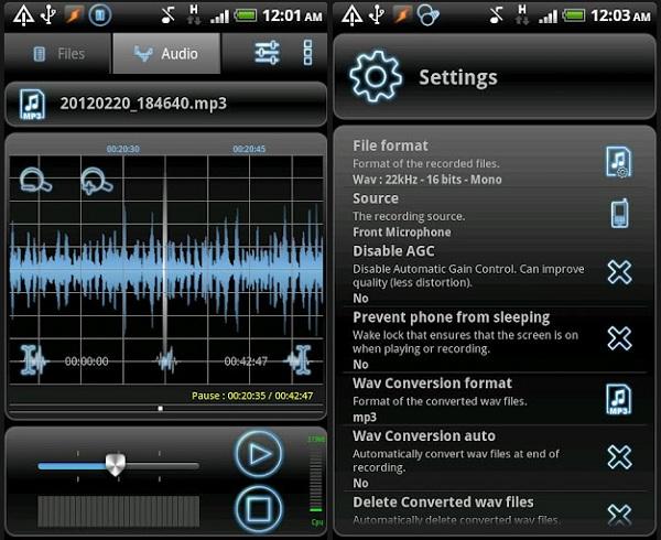 RecForge запись голоса, звуков