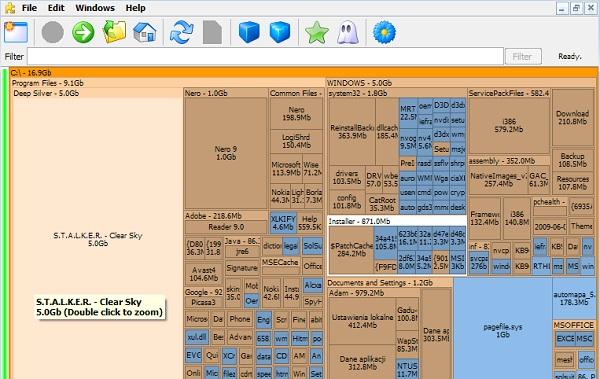 SpaceSniffer скриншот программы