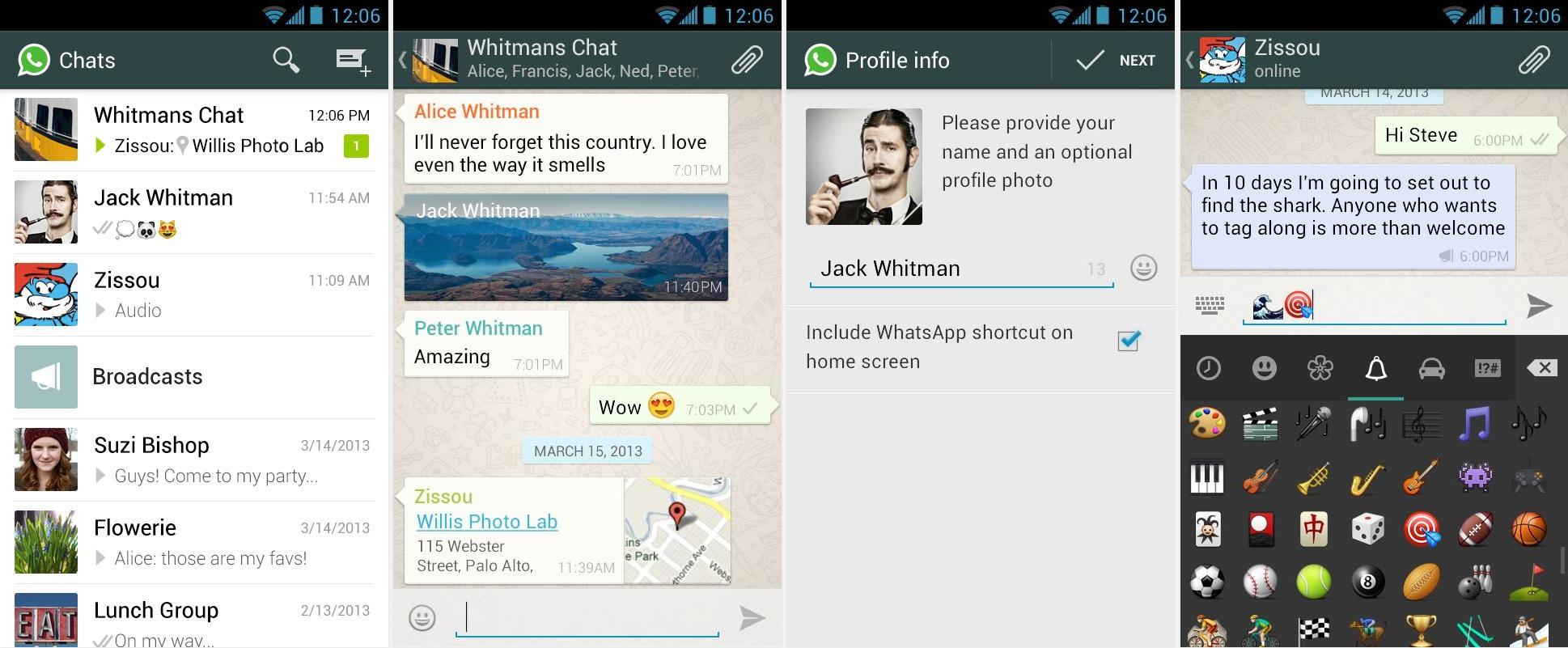 Старый интерфейс (дизайн) WhatsApp