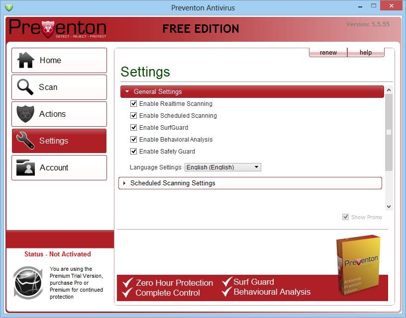 Скачать Preventon Antivirus Free бесплатно