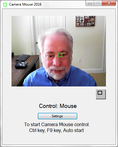 Скриншот к CameraMouse