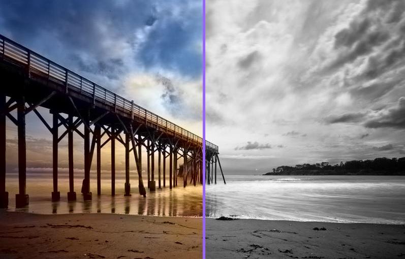 Автоматическое наложение цвета на чб фото