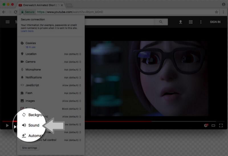 Отключение авто воспроизведение звука видео в Google Chrome