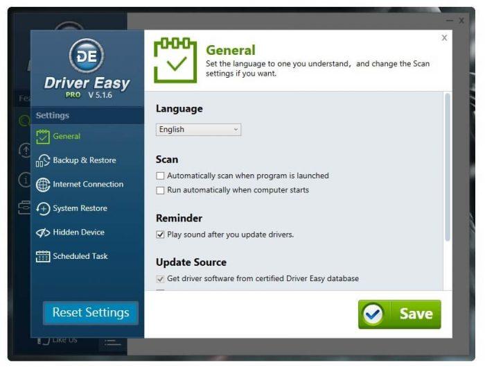 Driver Easy Professional поиск драйверов