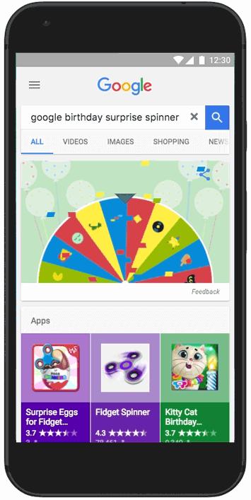 Праздничная пасхалка от Google