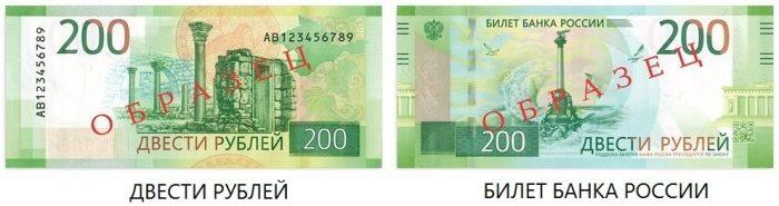 Купюра 200 рублей когда выйдет