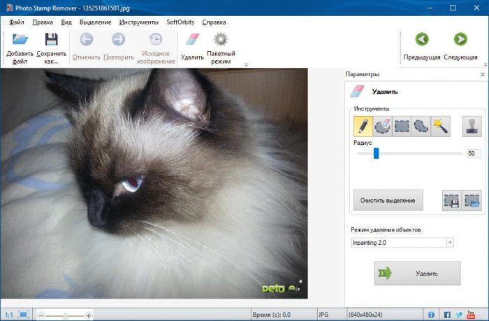 Скачать Photo Stamp Remover полную версию