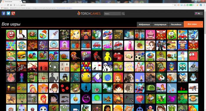 Качай игры бесплатно в Torch Browser