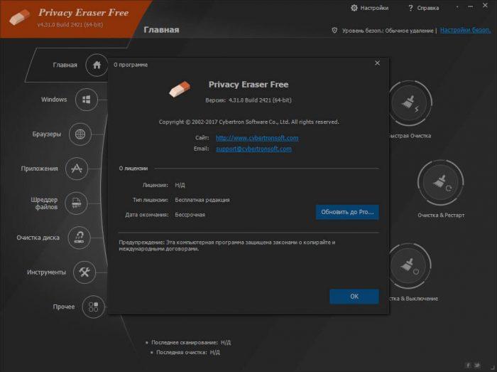 Privacy Eraser Free на русском