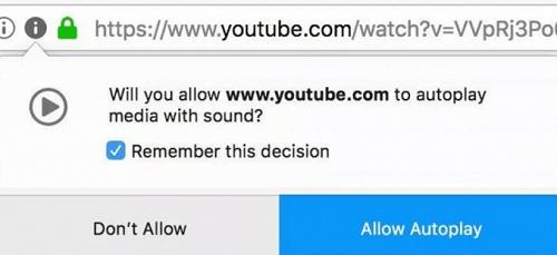 Блок автовоспроизведения видео и звука в Firefox