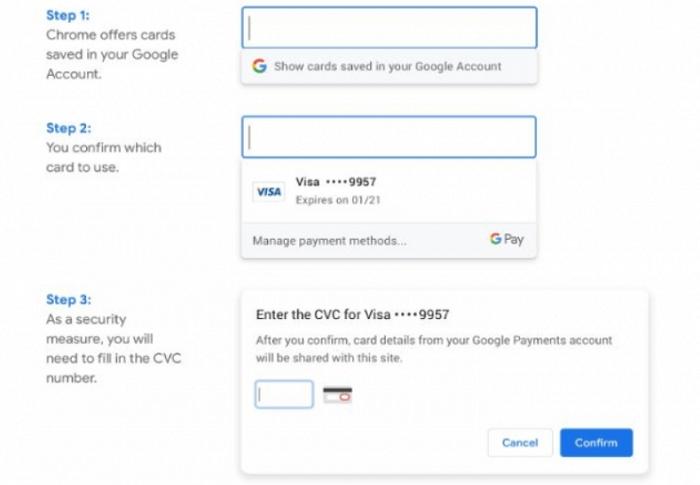 В браузере Chrome упростили онлайн платежи
