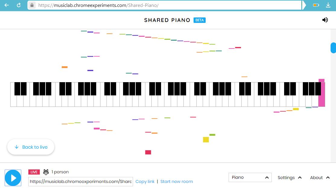 Где поиграть на пианино онлайн