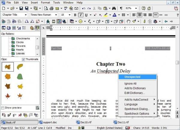 Скриншот Atlantis Word Processor