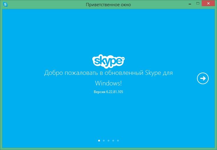 Скриншот главного окна в Скайпе