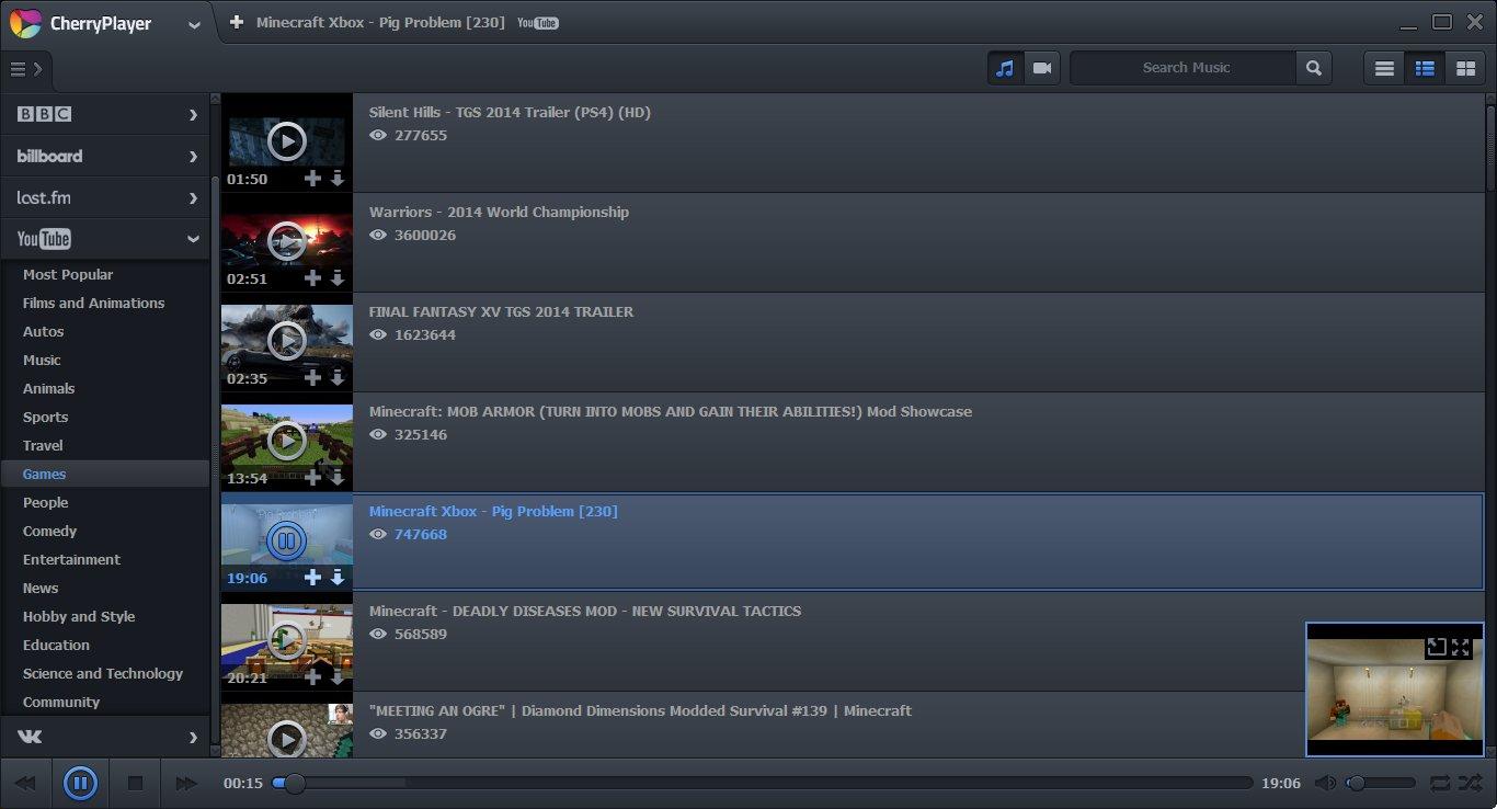 Скриншот №2 Черри плеера